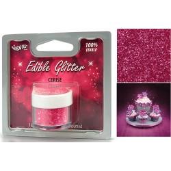 Rosa, ätbart glitter (Cerise)