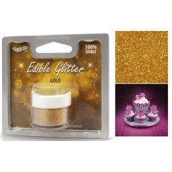 Gold, ätbart glitter