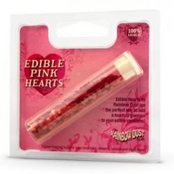 Edible Pink Hearts