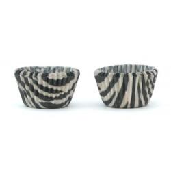 Zebra, ca 20 st muffinsformar (KF)