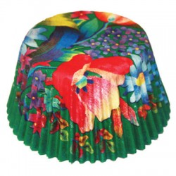 Blomster Grön, ca 20 st muffinsformar