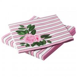 Rosen rosa, ca 20 st servetter