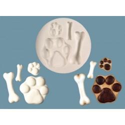 Tassar och hundben, silikonform