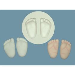 Babyfötter, silikonform (C030)