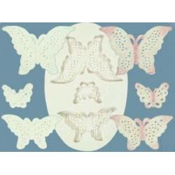 Spetsfjärilar, silikonform (C033)