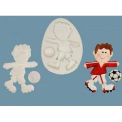 Funky Footballer, silikonform