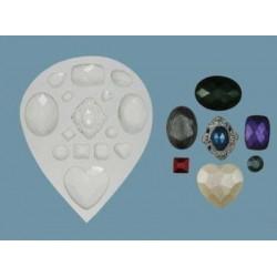 Ädelstenar, silikonform