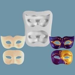 Masquerade Masks, 2 olika (silikonform)
