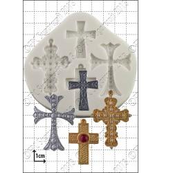 Kors (4 st), silikonform