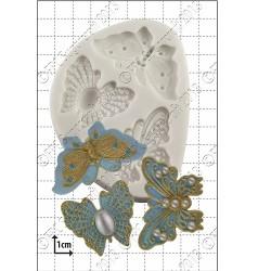 Fjärilsbroscher (3 st), silikonform