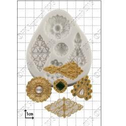 Broscher (5 st), silikonform
