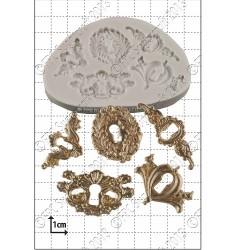 Nyckelhål (5 st), silikonform