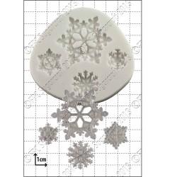 Snöflingor (4 st), silikonform