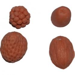 Frukt och nötter, silikonform nr 2