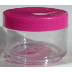 Plastburk med rosa lock, 50 ml