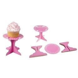 Cupcake-piedestal (6 st), rosa