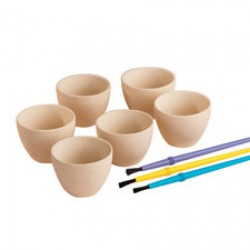 Smältskålar i keramik, 6 st