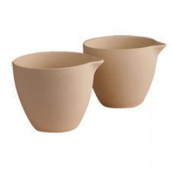 Smältskål med pip (keramik), 2 st
