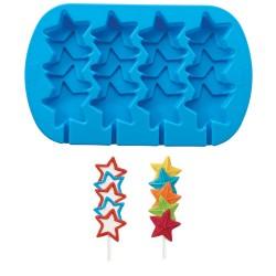 Stacked Stars, bakform till pops (silikon)