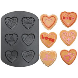Cookie Hearts, 6 st (bakform)