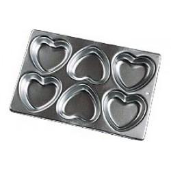 Små hjärtan, 6 st (bakform)