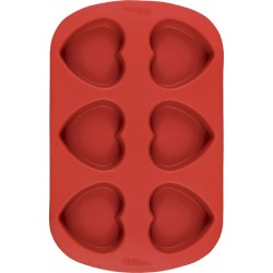 Små Hjärtan, 6 st (silikon)