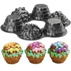 Dimensions Mini Flower Basket Pan, bakform