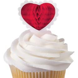 Hearts, 12 st 3D-muffinsflaggor