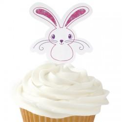 Bunny, 12 st muffinsflaggor