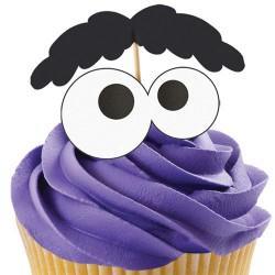 Eyes, 12 st muffinsflaggor