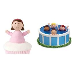 Flickansikten, cupcake topper
