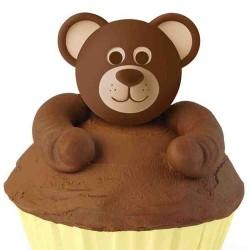 Björnhuvuden, cupcake topper