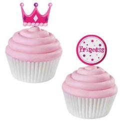 Princess, 12 st muffinsflaggor