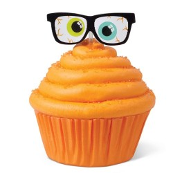 Glasögon, 12 st muffinsflaggor