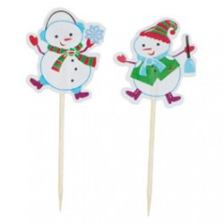 Snowman, muffinsflaggor