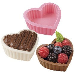 Hjärtformad skål, chokladform