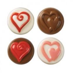 Hearts, chokladform till kakor