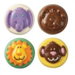 Animals, chokladform till kakor