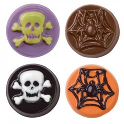 Halloween, chokladform till kakor