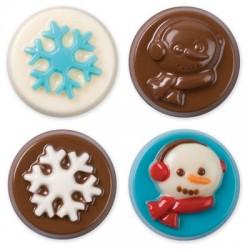 Winter, chokladform till kakor