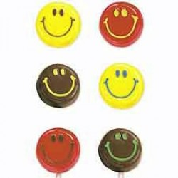 Smiley Faces, chokladform till klubbor
