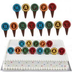 Happy Birthday, picks-chokladform