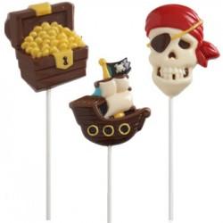 Pirat, chokladform till klubbor