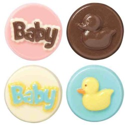 Baby, chokladform till kakor