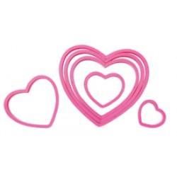 Hjärtan, 6 st utstickare