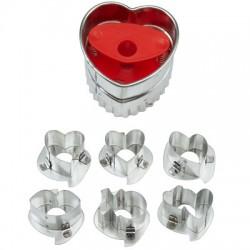Heart Linzer, kakform i 7 delar