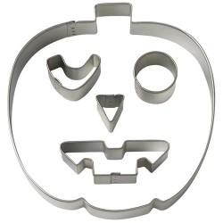 Pumpa med ansiktsuttryck, 5 st utstickare