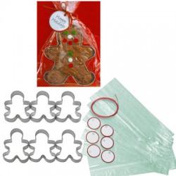 Holiday Gift Cutter Set, pepparkaksgubbar