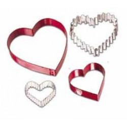 Hjärta, 4 st utstickare