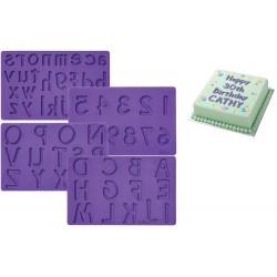 Bokstäver o Sifffror, silikonform